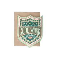 Good Work Badge Card By Hammerpress Size A2