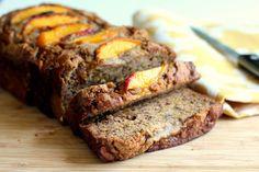 Low-fat Cinnamon Peach Banana Bread
