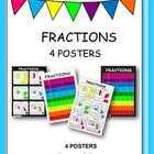 4 gorgeous fraction posters to print and put up in the classroom....