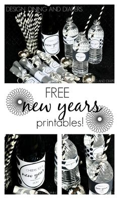 Free New Years Printables- such an easy way to add a little personalization to your party!