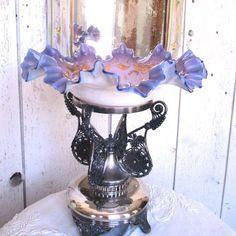 Spectacular Lavender Pairpoint Brides Basket