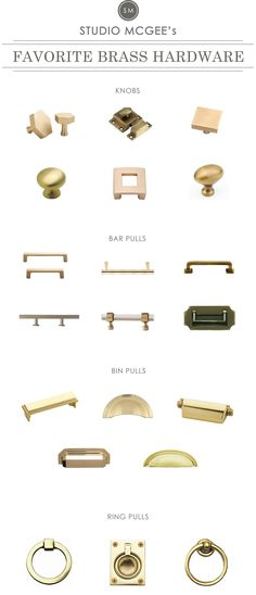 A Roundup of Our Favorite Brass Hardware