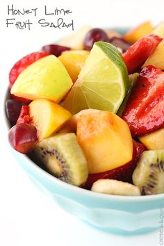 This sweet and tangy Honey Lime Fruit Salad is so easy you won't believe it - plus it's easily customizable for whichever fruit you have on hand or is in season!