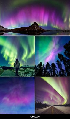 Pin for Later: These breathtaking photos of the northern lights will make you believe in magic. Beautiful Nature Scenes, Beautiful Nature Wallpaper, Amazing Nature, Beautiful Landscapes, Northern Lights Norway, Cool Pictures, Beautiful Pictures, Fantasy Landscape, Landscape Photos