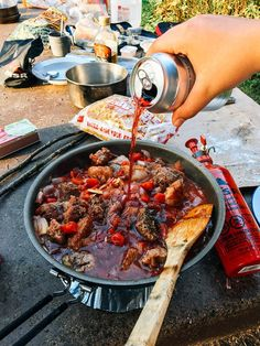 What's better than a dinner of Campfire Beef Stew when it's cold and misty in the Pacific Northwest after a day of hiking? Campfire Beef Stew hits the spot! Camping Meals, Camping Hacks, Kids Meals, Camping Recipes, Backpacking Meals, Ultralight Backpacking, Camping Stuff, Camping Checklist, Chips Ahoy