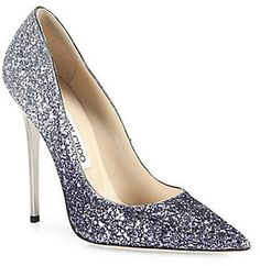 Shop Now - >  https://api.shopstyle.com/action/apiVisitRetailer?id=517561033&pid=uid6996-25233114-59 Jimmy Choo Romy 100 Glitter Degrade Point Toe Pumps  ...