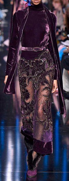 Elie Saab Bead Embroidered Velvet Dress