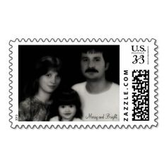 Merry and Bright Christmas Holiday Stamp
