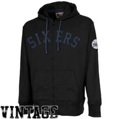 47 Brand Philadelphia 76ers Game Time Scrimmage Full Zip Hoodie - Black 153f6a083