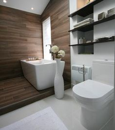 Une salle de bain zen et actuelle   Salle de bain zen, Rénovation ...
