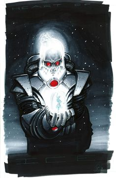 Mr. Freeze, in Shawn Cash's Hall of Villains Comic Art Gallery Room