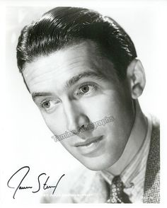American film and stage actor (1908-1997), nominated for 5 Oscars and winning one. Stewart participated in 92 films in a career from 1935 through 1991. Nice photo signed by him, shown young, 8 x 10 in