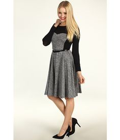 Suzi Chin for Maggy Boutique - L/S A-Line Tweed Fit and Flare Dress | Zappos