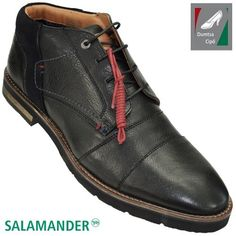 Salamander férfi bőr bokacipő 31-58903-01 fekete