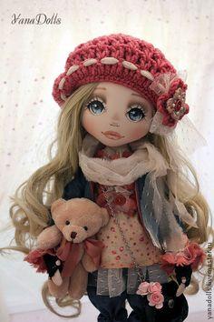 Диана - коралловый,кукла,кукла ручной работы,кукла в подарок,кукла текстильная