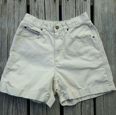"""$8 SALE! Rare Vintage High Waisted Chino Shorts $8 SALE PRICE IS FIRM UNLESS BUNDLE - NO OFFERS  It's rare to find a cute pair of high waisted vintage chinos ! Liz Claiborne Lizwear Petite size 8P. Measurements : 13"""", rise  11"""", length 16"""". As shown in the last photograph, the cuff needs to be ironed. Other then that they're in great vintage condition , with minimal wear. Vintage Shorts"""