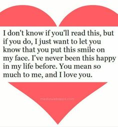 I Love YOU so much...YOU do make me very happy.:)