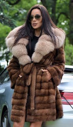 NEW SUPERIOR MINK FUR COAT CLASS OF SABLE CHINCHILLA FOX JACKET LONG VEST TRENCH | eBay