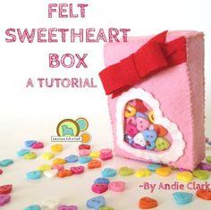 #Felt Sweetheart box for your sweetheart