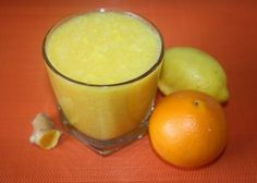 2 oranges     1 small or 1/2 large grapefruit     1 to 2 lemons     1 knob (1/2 inch) of turmeric