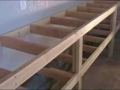 ▶ How to Build Simple Work Benches for a Workshop or Garage - YouTube