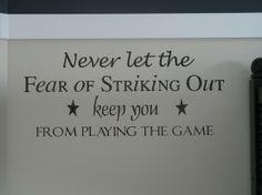 Sport theme sayings for nursery