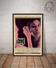 Amy Winehouse - Quote Retro Poster - Music Legends Series by HogArtDesign on Etsy https://www.etsy.com/listing/227294236/amy-winehouse-quote-retro-poster-music