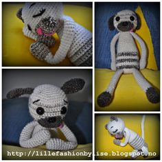 hekledyr / crochet amigurumi lillefashion.by.lise Teddy Bear, Toys, Crochet, Cute, Animals, Amigurumi, Activity Toys, Animales, Animaux