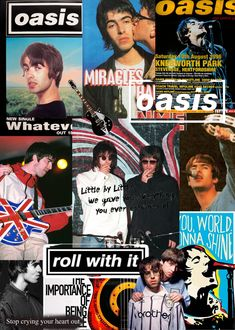 Iphone Wallpaper Music, Iphone Wallpaper Tumblr Aesthetic, Music Collage, Wall Collage, Liam Oasis, Oasis Album, Music Covers, Album Covers, Oasis Music