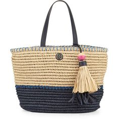 Tory Burch Small Straw Tote Bag