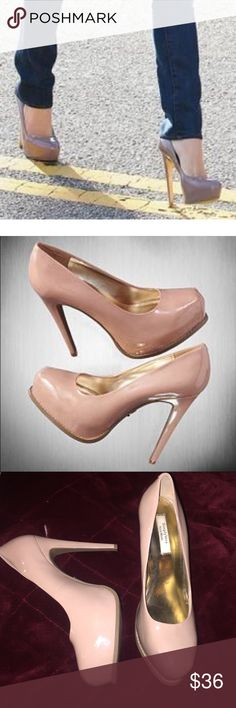 Simply Vera nude platform heels These are fabulous... they look just like Brian Atwood heels and Louboutins.. they are a nude/ blush platform heel from Simply Vera Vera Wang.. minor scuffs.. worn inside for party one time.. somebody please rock these  Simply Vera Vera Wang Shoes Heels