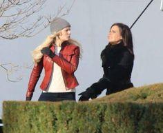 Lana and Jen (Regina and Emma) #Once #BTS Once S5 E21 #LastRites #FortLangley…