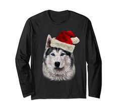 Marry Christmas to all Husky love. If you are looking Christmas gift for your friends and family so here is a Top 10 Siberian huskie Christmas t-shirts. Christmas Animals, Christmas Dog, Husky Cross Breeds, Pet Fashion, Santa Hat, Pets, T Shirt, Supreme T Shirt, Tee Shirt