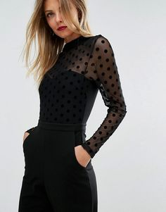 ASOS spotted black jumpsuit