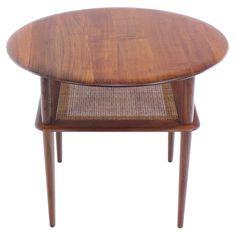 Danish Modern Solid Teak Occasional Table Designed by Peter Hvidt