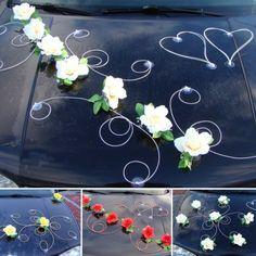DEKOR Auto Schmuck Braut Paar Rose Deko Dekoration 12 Farben Hochzeit Ratan in Kleidung & Accessoires, Hochzeit & Besondere Anlässe, Sonstige | eBay