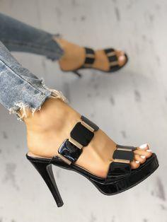 f700d6bd3c Metallic Embellished Thin Heeled Sandals Heeled Sandals, Shoes Sandals, Too  Thin, Metallic,