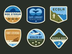 Oregon State Park Badges (First Six)