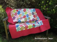 I am super happy to be sharing the recipe for this quilt with you all. My name is Michelle, I live in Australia and I blog over at Buttontree Lane. I wanted to make a small quilt as a gift for a li...
