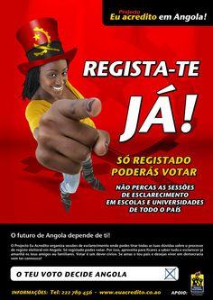 Portfólio - Campanha para o Registo Eleitoral em Angola by jorge , via Behance