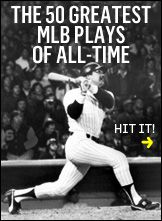 The 50 greatest plays in the history of Major League Baseball.