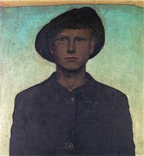Self-Portrait with Wanderhut - Otto Dix