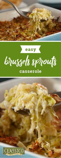 Brussels Sprouts Casserole – Share a deliciously cheesy dish on your dinner table tonight with help from this vegetable-filled recipe. Plus, this side dish is prepped and ready for the oven in just 15 minutes.