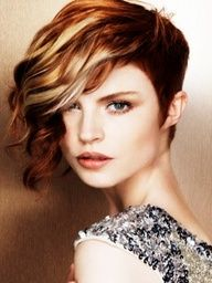 copper peekaboo highlights | Red Hair Inspirations