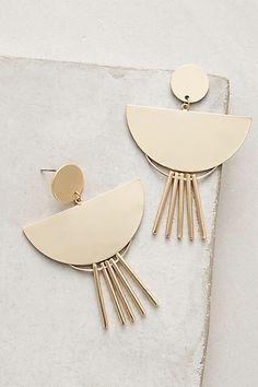 Anthropologie Fringed Drop Earrings in gold! So cute!