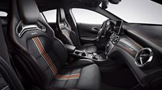 Mercedes-Benz, The stylisch designed interior of the CLA 45 AMG OrangeArt Edition from Mercedes-Benz.