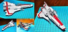 Battlestar Galactica - Viper Mark II - Papercraft - 1