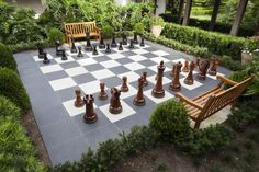 Outdoor Lawn Games to Lure You Outside This Summer: Giant Chess --> http://www.hgtvgardens.com/photos/outdoor-lawn-games?s=5=pinterest