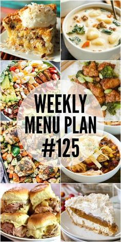 We have gotten together with some of our favorite food bloggers to bring you this custom weekly menu plan. We ...