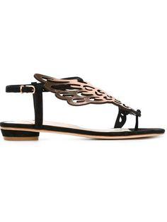 SOPHIA WEBSTER Wing Appliqué Sandals. #sophiawebster #shoes #sandals